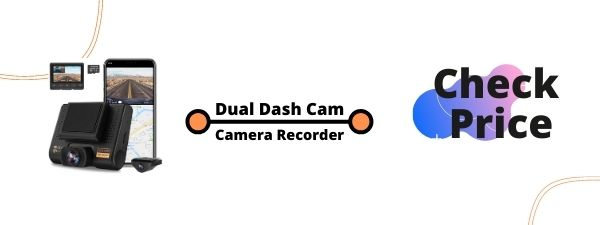 Dual Dash Cam, AQP Car Camera Front and Rear for Cars, Dashboard Camera Recorder with GPS & WiFi, Sony Sensor, 170°/ 150°Wide...