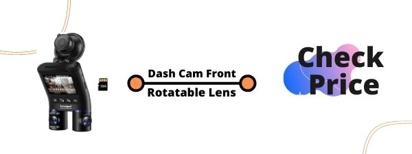 Dual 1080P Dash Cam Front and Inside, Dashcam HD Double Rotatable Lens Driving Recorder Camera With IR Night Vision 2'' Screen 32GB SD Card...