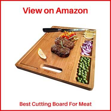 HHXRISE Large Organic Bamboo Cutting Board