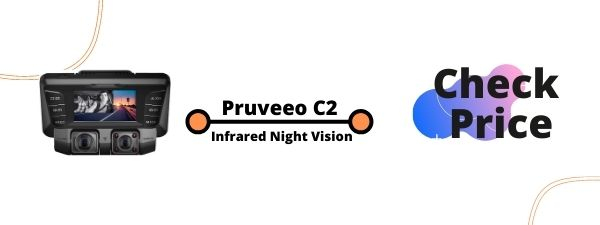 Pruveeo C2 Dash Cam with Infrared Night Vision