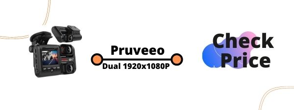 Pruveeo D30H Dash Cam with Infrared Night Vision and WiFi, Dual 1920x1080P Front and Inside, Dash Camera for Cars Truck Taxi