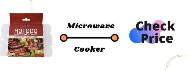 Microwave hot dog cooker and steamer stove top