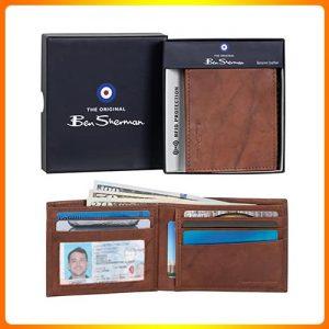 RFID-Minimalist-Wallet-Ben-Sherman-Men's-Manchester-Slim-Bifold