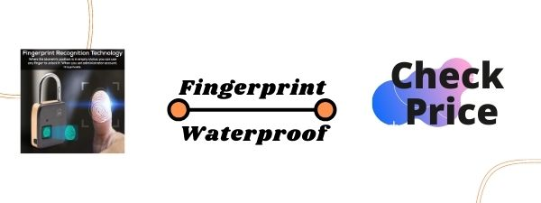 FINGERPRINT PADLOCK BIOMETRIC LOCKING FOR 10