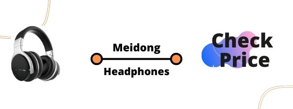 Meidong E7B with Microphone Over Ear