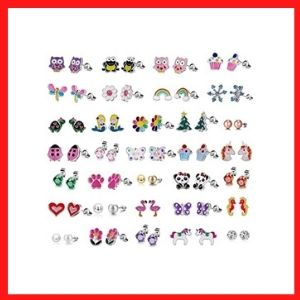 TAMHOO Cute Simple Post Stud Earrings Set for Girls