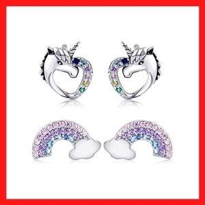 Bascolor Tiny Stud Earrings for Girls