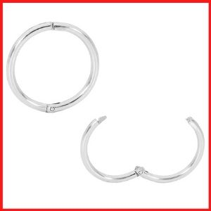 365 Sleepers 2 PcsSterling Silver Hinged Hoop Earrings