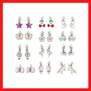 PinkSheep Clip On Earrings for Little Girls