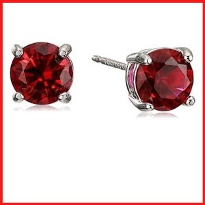 Amazon Essentials Sterling Silver Genuine Stud Earrings