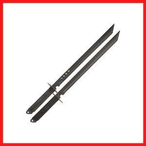 Black Twin Ninja Swords, Two-Piece Set