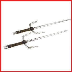 BladesUSA 2309C Octagon Metal Sai Real Ninja Weapon