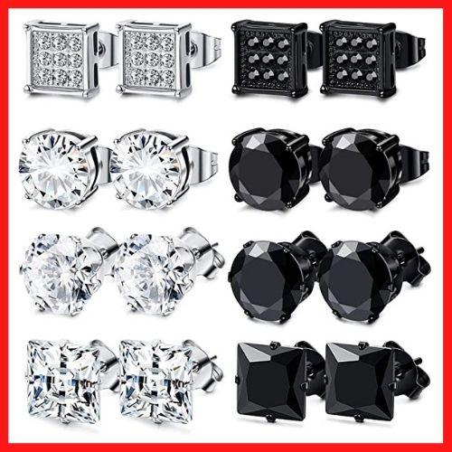 FIBO STEEL Stainless Steel Stud Earrings