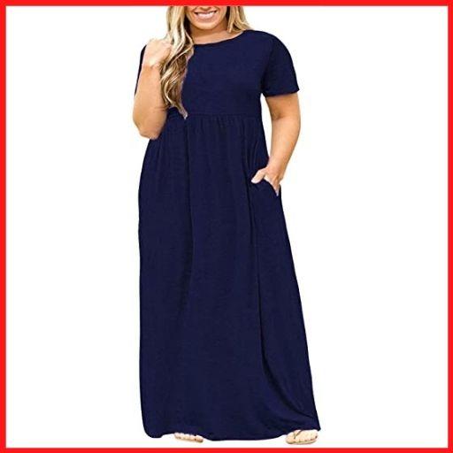 LONGYUAN Women Plus Size Maxi Dress