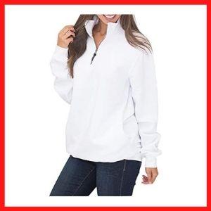 Malaven Womens Quarter Zip Sweatshirts