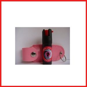 POWERFUL PEPPER SPRAY ENCLOSED IN A PINK BOTTLE