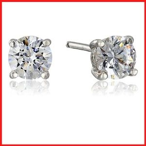Platinum or Gold Plated Sterling Silver Stud Earrings