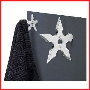 SUS304 Stainless Steel Shuriken Heavy Duty Coat Hooks