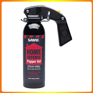 Home defense pepper Gel presenting the wall mounting