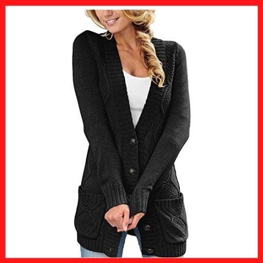 luvamia Woman's Long Sleeve Open Front sweaters