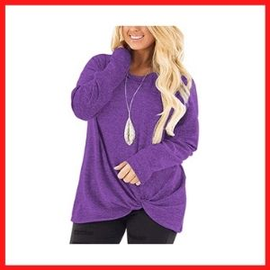 DOLNINE ladies Plus Size loose tops long sleeve tee Shirts