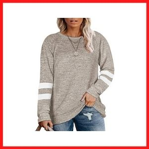 DOLNINE Plus Size ladies sweatshirts long sleeve tunic tops