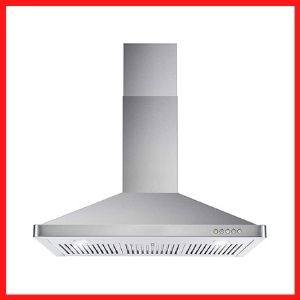 The Cosmo 63190 Wall Mount Range Hood With Ductless Exhaust<br />