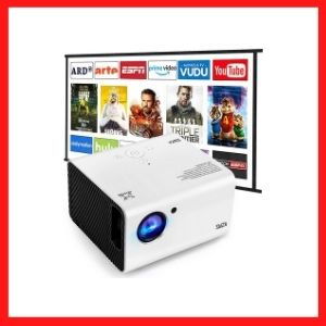 Portable Projector, SWZA Native 1920x1080P Movie Video Projector