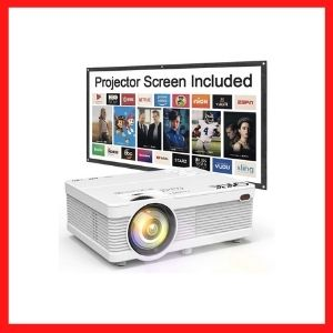 QKK Mini Projector 6500Lumens Portable Projector